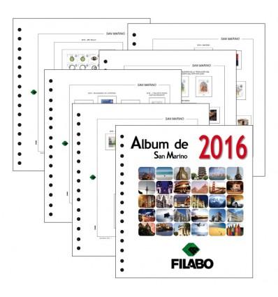 FILABO HOJAS ALBUM DE SELLOS DE SAN MARINO