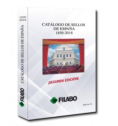 CATALOGO FILABO DE SELLOS DE ESPAÑA 1850-2018 EDICION 34 A TODO COLOR II EDICION