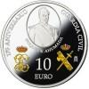 MONEDA ESPAÑA PLATA 10 EUROS 2019 175 ANIVERSARIO DE LA GUARDIA CIVIL PROOF