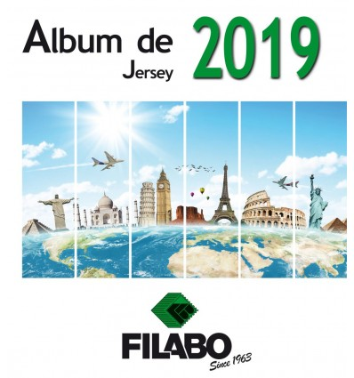 FILABO HOJAS ALBUM DE SELLOS DE JERSEY