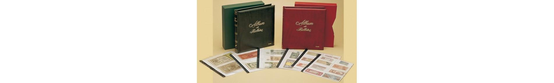Álbum y hojas Billetes Banco